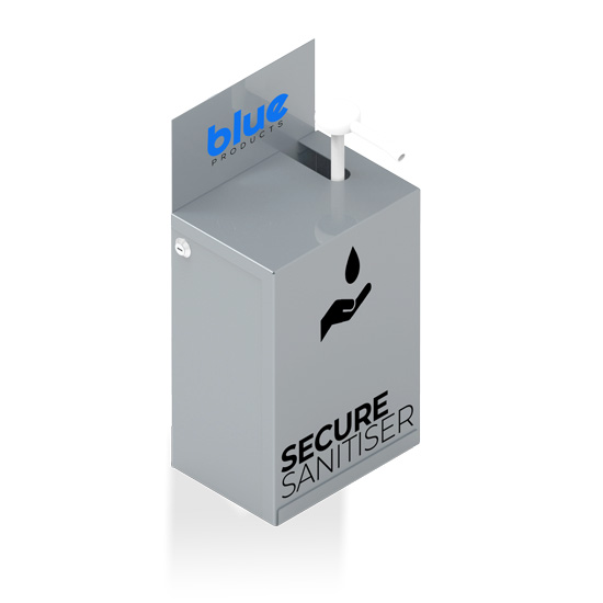 Wall Mounted Secure Sanitiser Dispenser - Blue Products